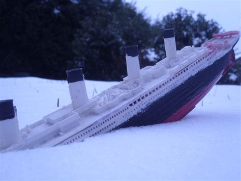 Where Did The Titanic Sink Exactly by Titanic Sinking Into The Snow Again By