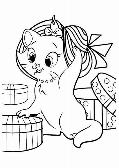 Coloring Kitten Pages Printable Sheets Marie Kitty