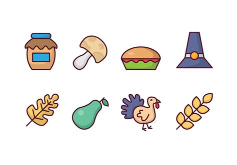 Cartoon : Thanksgiving Cartoon Icons