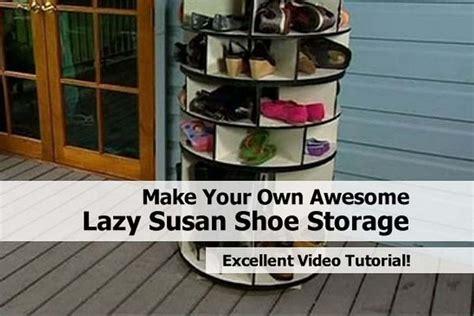 awesome lazy susan shoe storage
