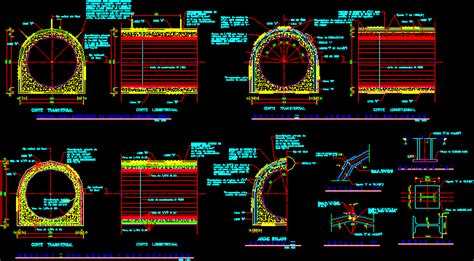 tunnel section dwg section  autocad designs cad