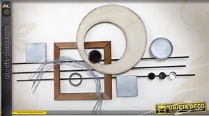 Decoration Murale Fer : d coration murale en fer de style abstrait et g om trique ~ Melissatoandfro.com Idées de Décoration