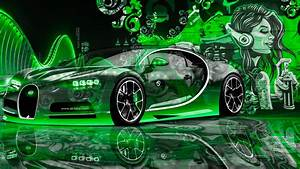Bugatti Chiron Super Crystal City Graffiti Girl Street Car