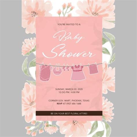 baby shower invitation templates editable psd