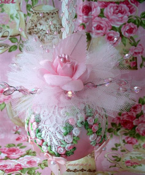Shabby Chic Ornamente by Shabby Pink Chic Ornament Pink Roses Venice