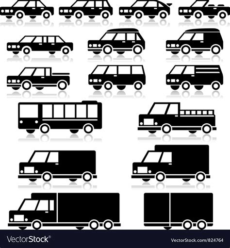 Car Types Icons Royalty Free Vector Image
