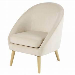 Fauteuil En Velours : fauteuil en velours beige suzie maisons du monde ~ Dode.kayakingforconservation.com Idées de Décoration