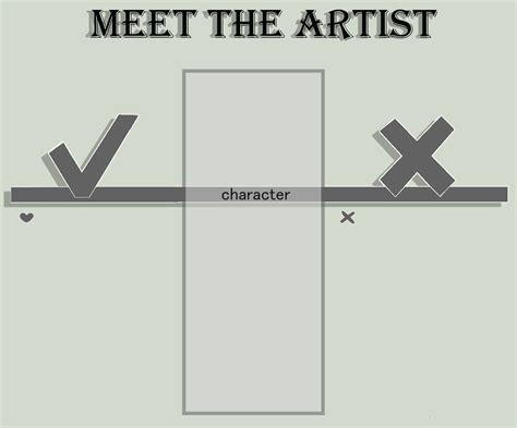 Meet The Template Meet The Artist Template By Nucicoms On Deviantart