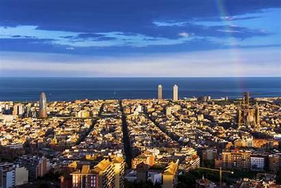 Barcelona Wallpapers Skyline Rainbow