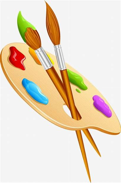 Brush Paint Cartoon Palette Drawing Painting Clipart
