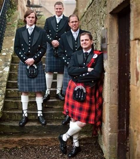 In Tartan The Highland Grooms by D Dress Code Smart Kilts Optional For The