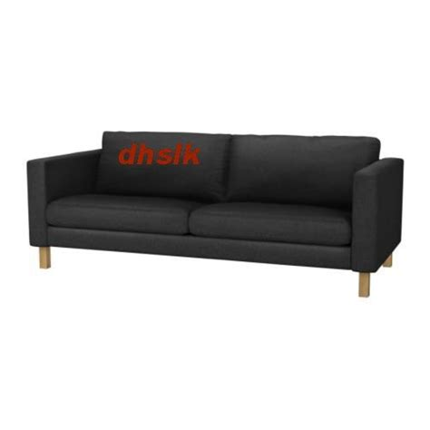 ikea karlstad 3 seat sofa slipcover cover ullevi gray