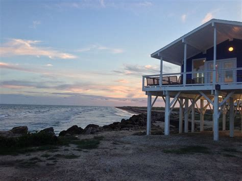 Perched At The Edge Of The Beach  Homeaway Galveston