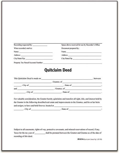 quit claim form sample pernillahelmersson