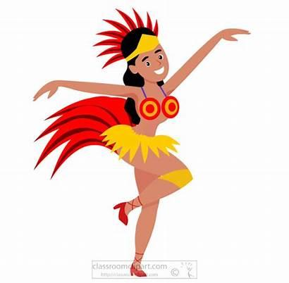 Samba Clipart Dance Brazil Rio Adult Female