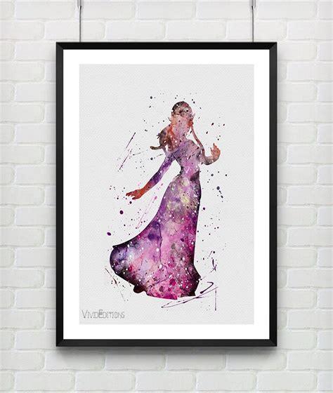 princess zelda  legend  zelda watercolor art print