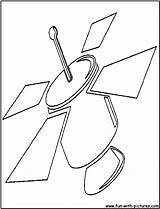 Satellite Cutout Coloring Printable Pages Fun Crafts sketch template