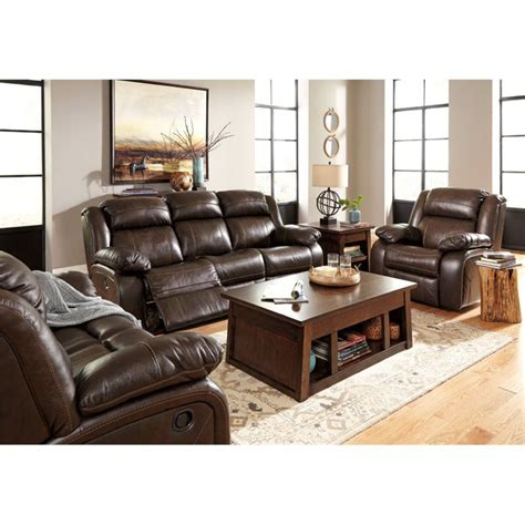 Leather Reclining Sofa Set by Lowest Price On All Branton 3 Leather