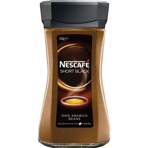 Add just enough boiling water to cover the granules and sugar, but not too much more than that. Nescafe Instant Coffee Short Black 100g | Woolworths