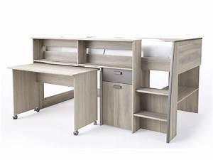 Lit Bureau Conforama : lit mezzanine greg conforama table de lit a roulettes ~ Teatrodelosmanantiales.com Idées de Décoration