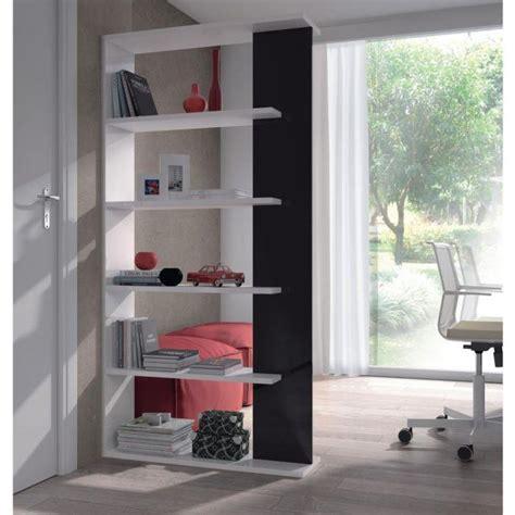 meubles de cuisine brico d駱ot alida etagère bibliothèque noir et blanc brillant 90x180cm achat vente etagère murale alida bibliothèque n b panneau particules