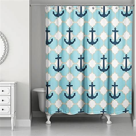 anchor shower curtain designs direct anchor shower curtain in blue bed bath