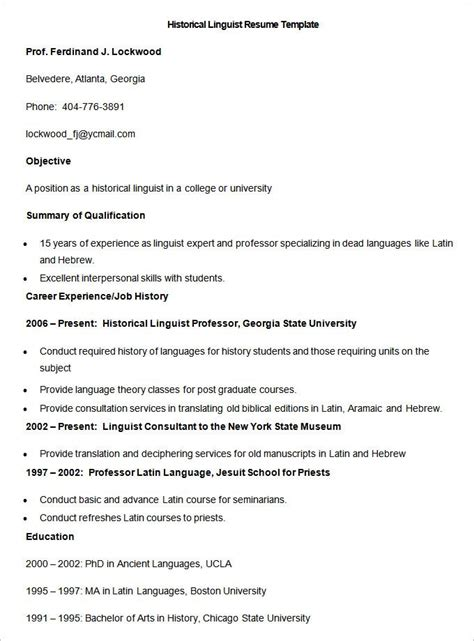 sle historical linguist resume template how to make a