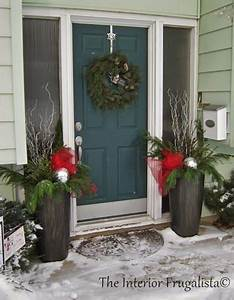 Deck, The, Halls, How, To, Fill, Outdoor, Christmas, Urns