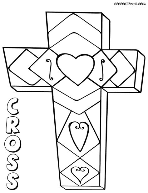 cross coloring page cross coloring pages coloring pages to and print