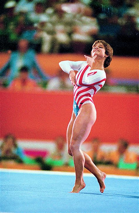 Lou Retton Olympic Floor Routine by International Wallpaper Lou Retton Gymnast And