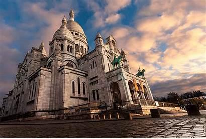 Coeur Sacre Paris Montmartre France Sky Desktop