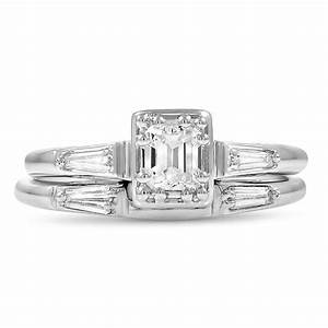 retro diamond vintage ring essey bridal set brilliant With brilliant earth wedding ring sets