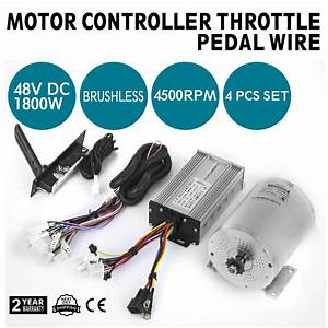 Brushless Electric Motor Controller Dc 48v 1800w Kart Bike 4500rpm Best Price