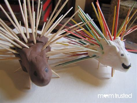 toothpick porcupines  images winter crafts