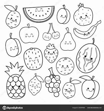 Coloring Fruits Fruit Printable Vegetables Sheets Frutti