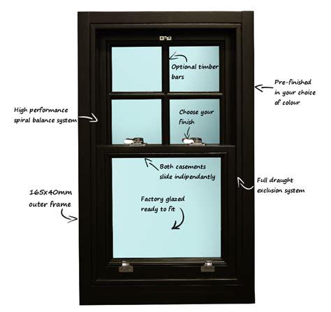 bespoke wooden sliding sash windows design  buy