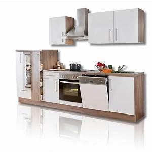 kuchenblock julia weiss hochglanz inklusive e gerate With küchenblock mit ger ten