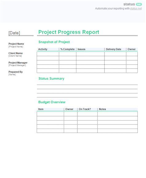 incredible project progress report templates