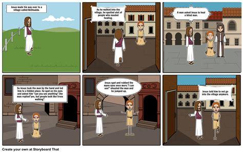 Jesus Heals A Blind Man Storyboard By Pingu1915