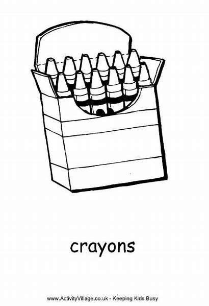 Crayons Colouring Crayon Pages Clipart Box Coloring