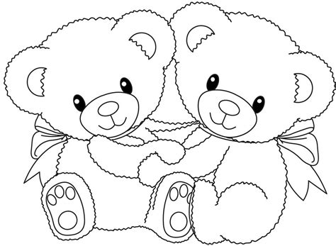Teddy Bear Birthday Coloring Pages