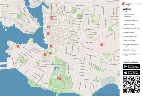 victoria printable tourist map sygic travel