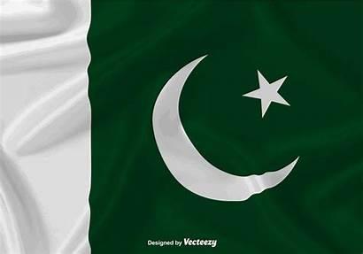 Vector Pakistan Flag Waving Background Araucaria Edit