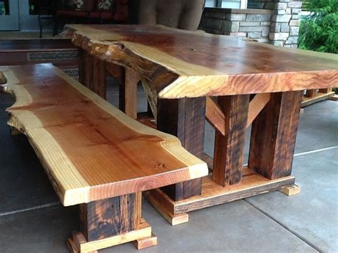 handmade redwood bench   reclaimed wood  toby js