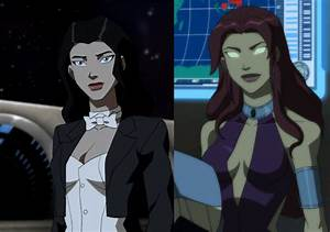 zatanna and starfire - Teen Titans vs. Young Justice Photo ...