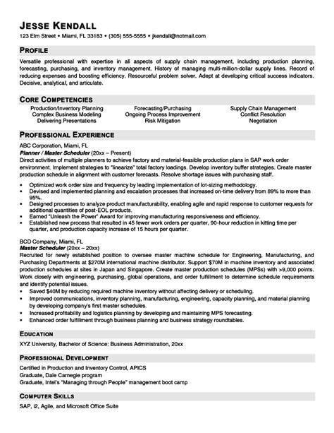scheduler resume sle resumes design
