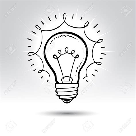 How To Draw A Light Bulb by Light Bulb Line Drawing At Getdrawings Free For