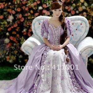 lila brautkleider licht lila boden länge spitze perle voile viktorianischen prinzessin ballkleid antoinette