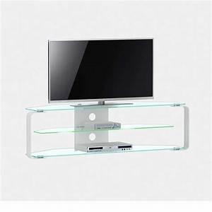 Schicker tv tisch bravassa aus glas for Tv tisch glas
