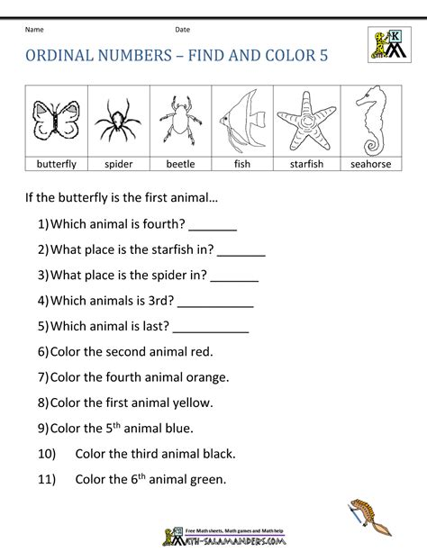 math worksheets for grade 3 ordinal numbers ordinal number worksheets